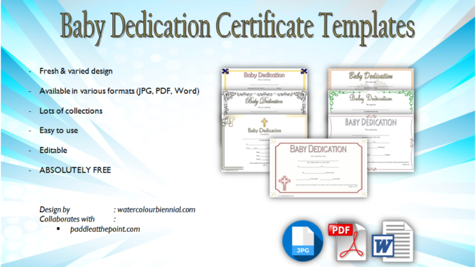 image regarding Printable Baby Dedication Certificate named 7+ Absolutely free Printable Kid Devotion Certification Templates Cost-free