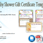 Baby Shower Gift Certificate Template [7+ FUNNY DESIGNS]