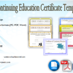 CEU Certificate Template [7+ GREAT EDUCATION DESIGNS]