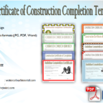 Certificate of Construction Completion [10+ Best Template Designs]