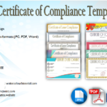 Certificate of Compliance Template [10+ PREMIUM DESIGNS]