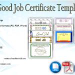 Good Job Certificate Template [9+ Great Designs]