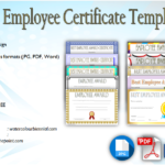 Best Employee Certificate Template [10+ Gorgeous Designs Free]