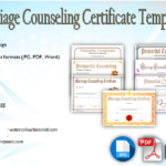 Marriage Counseling Certificate Template [7+ Beautiful Designs]