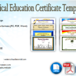 Physical Education Certificate Template Editable