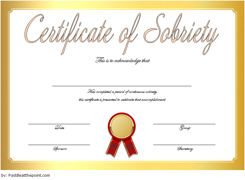 certificate of sobriety template, sobriety certificate template, alcoholics anonymous sobriety certificate, congratulations on 1 year sobriety, free printable sobriety certificate, promise certificate template, drug test certificate sample