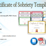 Certificate of Sobriety Template Free [10+ Latest Designs]