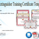 Fire Extinguisher Training Certificate Template Free [7+ Latest Views]