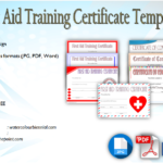 First Aid Certificate Template Free [7+ Greatest Choices]