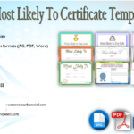 Most Likely To Certificate Template [9+ New Designs FREE]