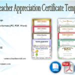 Teacher Appreciation Certificate Free Printable: 10+ Designs
