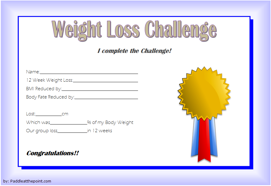 weight loss certificate template free  8  new designs