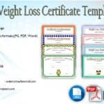 Weight Loss Certificate Template Free [8+ New Designs]