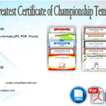 10+ Certificate of Championship Template Designs FREE