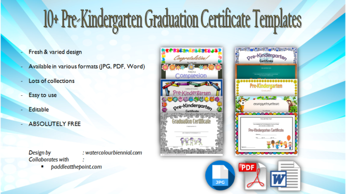 photograph relating to Pre Kindergarten Diploma Printable named 10+ Cost-free Editable Pre K Commencement Certificates [Term + PDF]