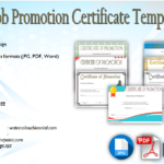 Job Promotion Certificate Template FREE: 7+ Editable Designs