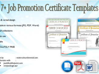 job promotion certificate template, certificate of job promotion, certificate of promotion template work, free printable certificate of promotion