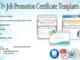 job promotion certificate template, certificate of job promotion, certificate of promotion template work, free printable certificate of promotion