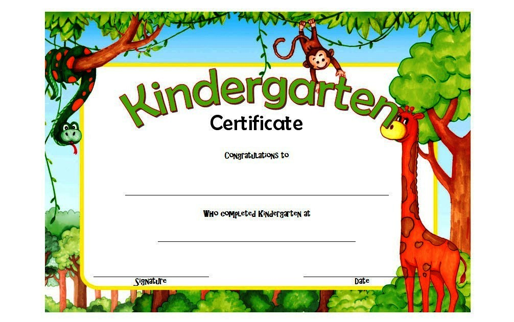 photo relating to Kindergarten Certificate Free Printable named Kindergarten Degree Certification Templates: 10+ Patterns Absolutely free