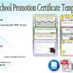 School Promotion Certificate Template [10+ New Designs FREE]